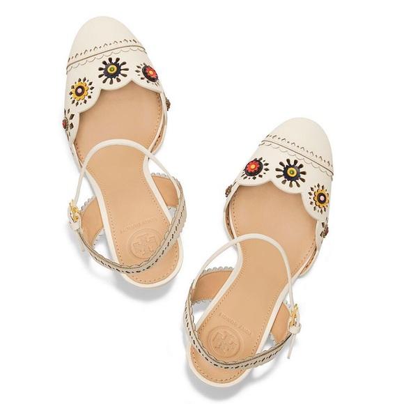 5b73909befc Marguerite Perforated Slingback Sandal. NWT. Tory Burch